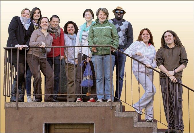 Gruppenbild Treppe kl